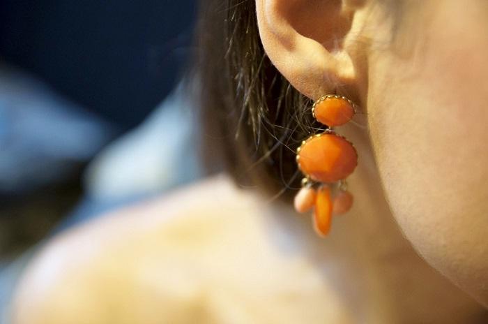 Orecchino arancione33