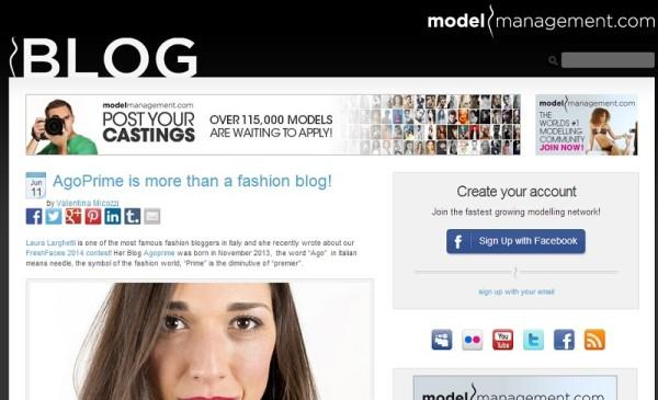 modelmanagemente e Agoprime