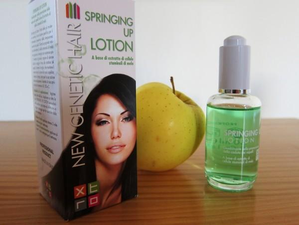 Springing up lotion