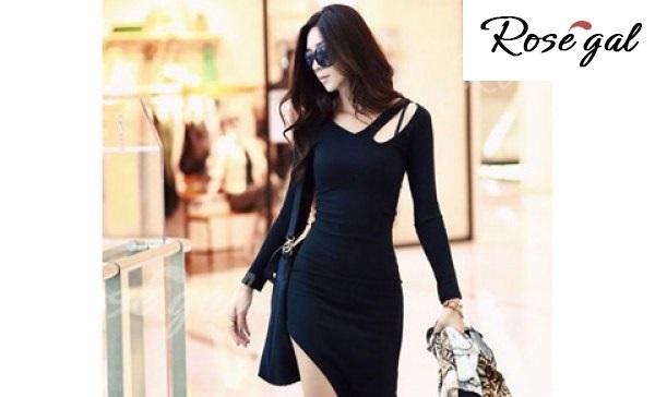 vestito lungo nero copertina