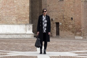 Black and white outfit: a beautiful day in Urbino!