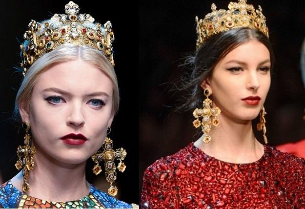 orecchini a Croce dolce e Gabbana A-I 2013-2014