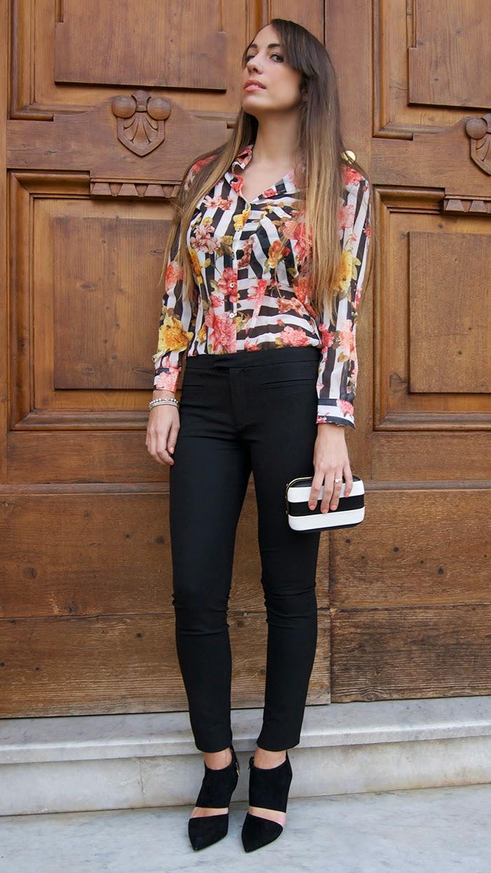 camicia righe e fiori - nameless