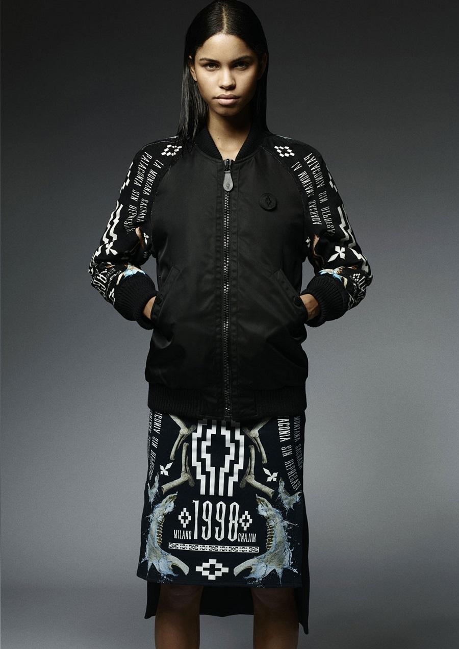 Marcelo-Burlon-County-Of-Milan-Fall-Winter-2014-2015-Womenswear-aviator-kubo-sleeves-milano-1998-skirt