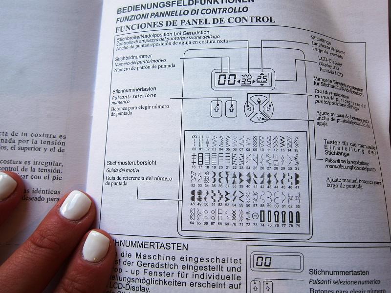shopty macchina da cucire libretto di istruzioni