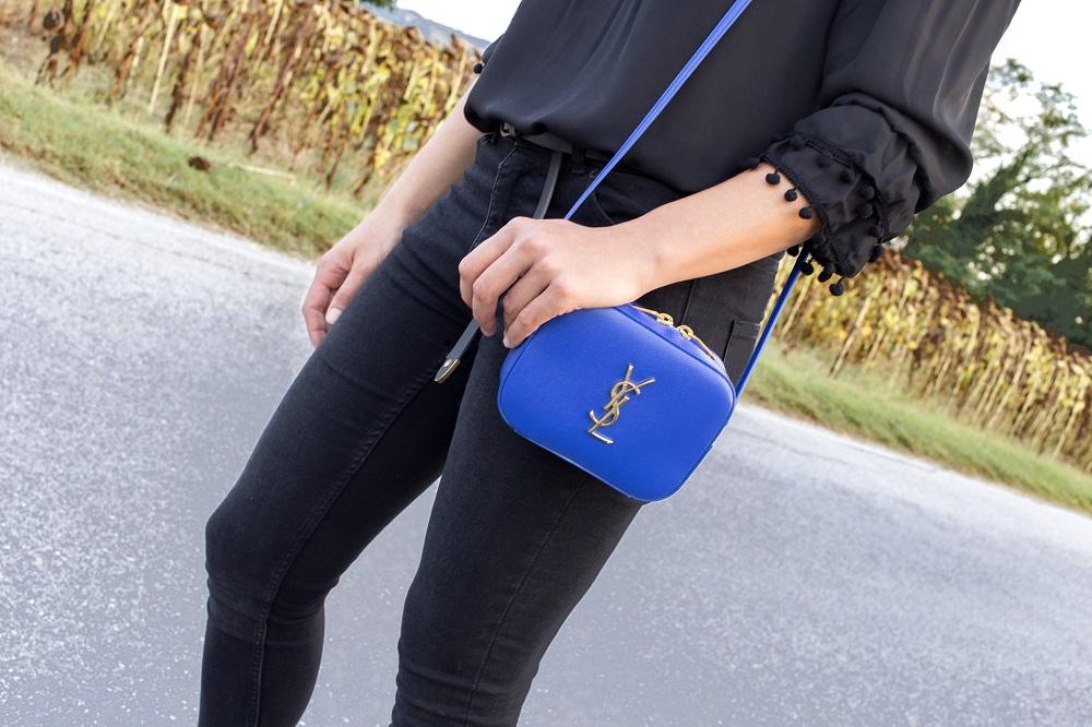 YSL blue bag