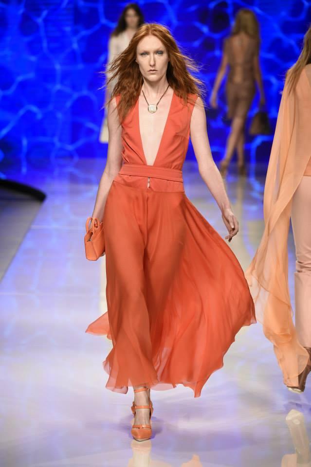aigner summer 2016 red dress