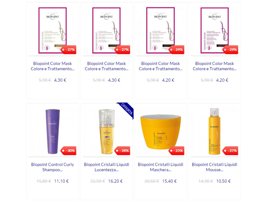 profumeriaweb prodotti per capelli offerte