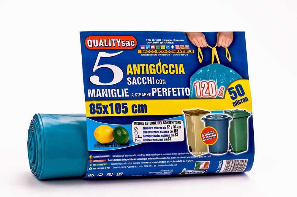 Un piccolo aiuto per un gesto quotidiano: grazie ai sacchetti Qualitysac di Polimer buttare l'immondizia non sarà più così faticoso!