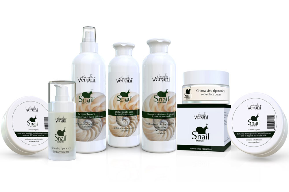 La linea Snail Serum di Donatella Veroni è esperienza di qualità e benessere brevettata e certificata biologicamente.